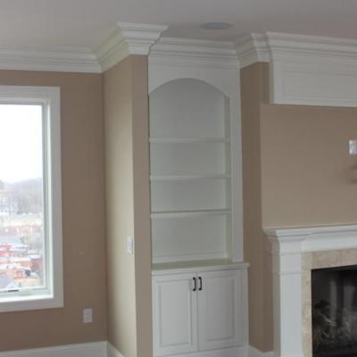 Living Room Built-In Bookcases